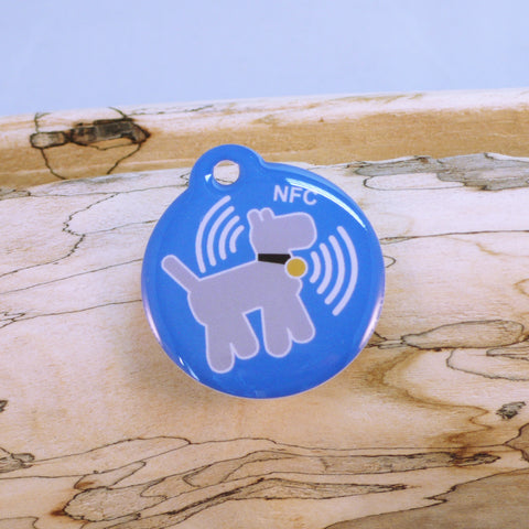 Premium Blue NFC Pet ID Tag