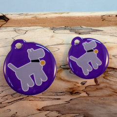 Walkies Purple Pet ID Tag