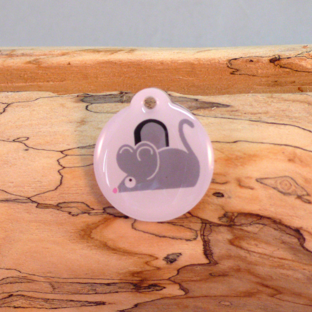 Mouse Cat ID Tag