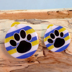 My Paw Blue Stripe Pet ID Tag