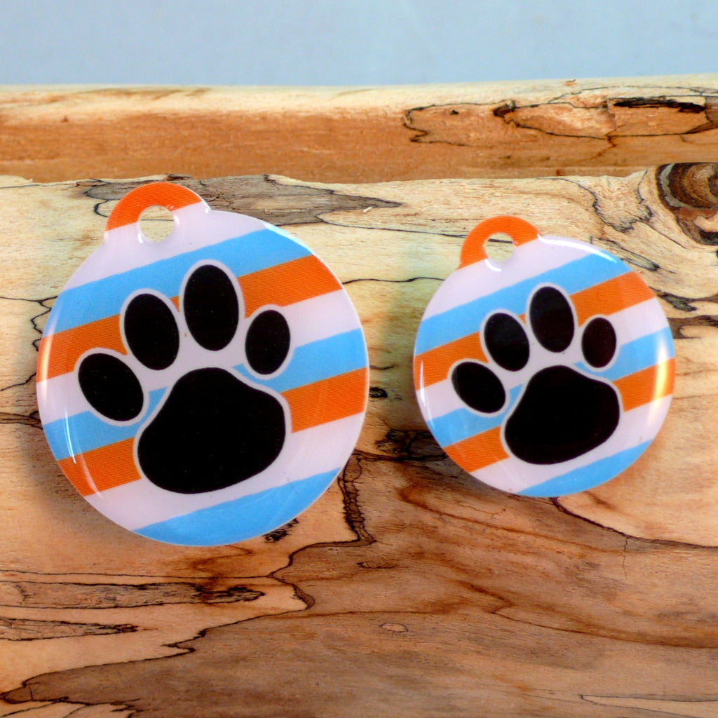 MyPaw Orange Stripe Pet Tag