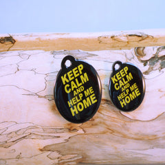 Keep Calm Pet ID Tag