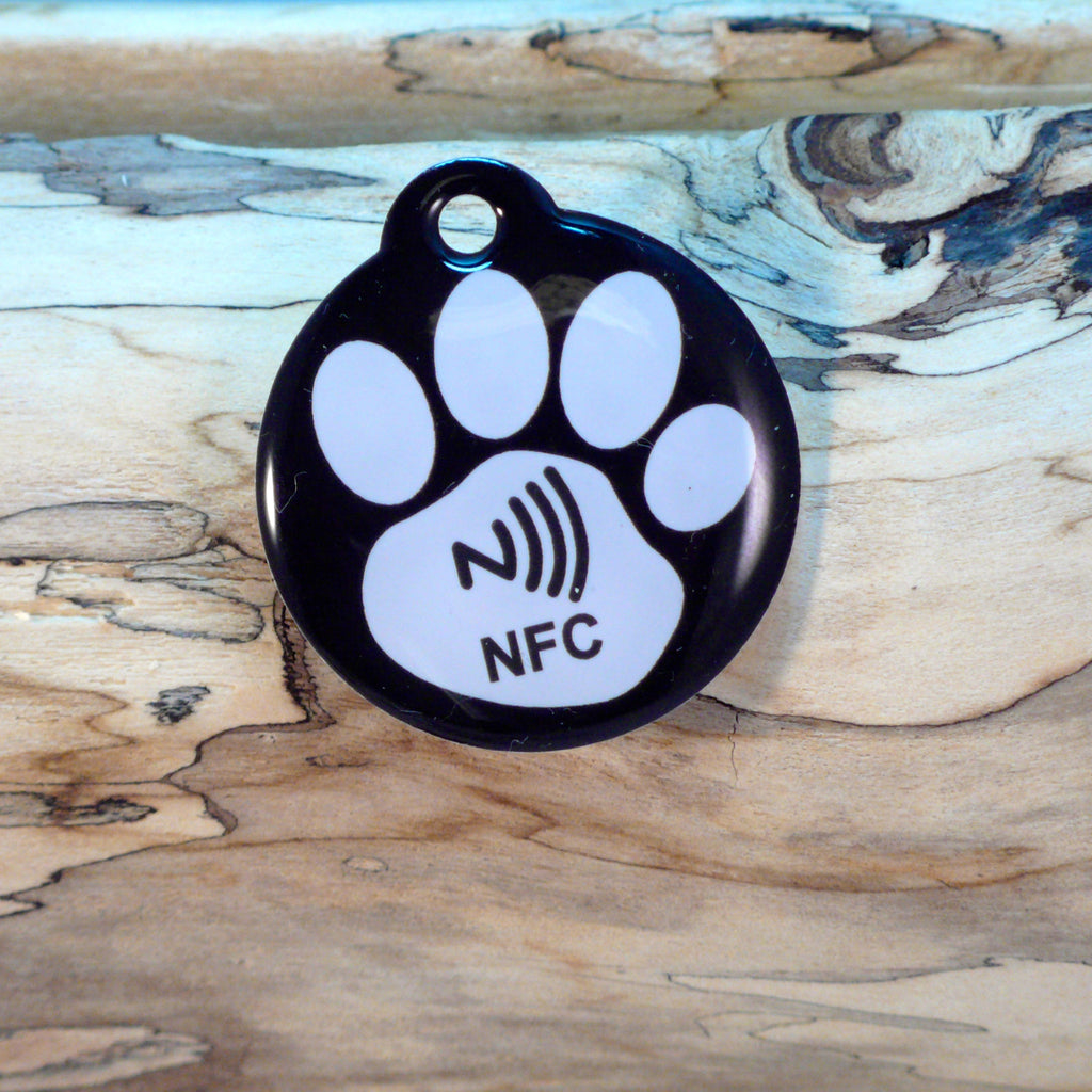 Premium Black Paw NFC Pet ID Tag