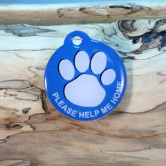My Paw Blue Pet ID Tag