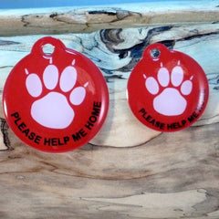 My Paw Red Pet ID Tag