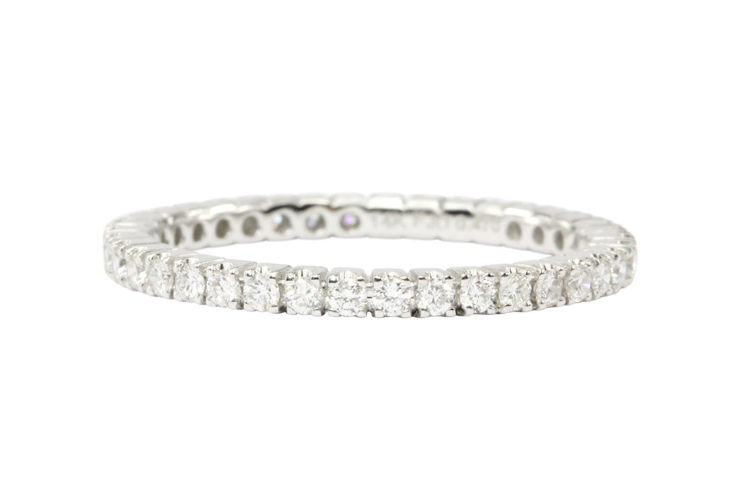 14K White Gold Diamond Eternity Band - Queen May