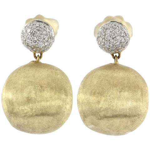 Marco Bicego 18K Gold & .48 Carat Diamond AFRICA Earrings