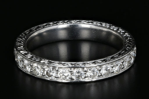 14K Diamond Eternity Band - Queen May