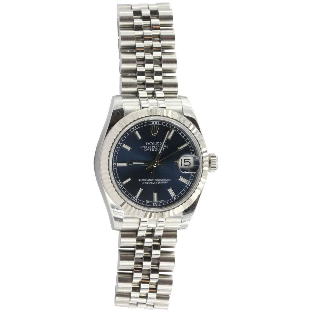 Rolex Oyster Perpetual Dateadjust 31MM 178274 Wrist Watch Unisex Steel &18k Bezel - Queen May