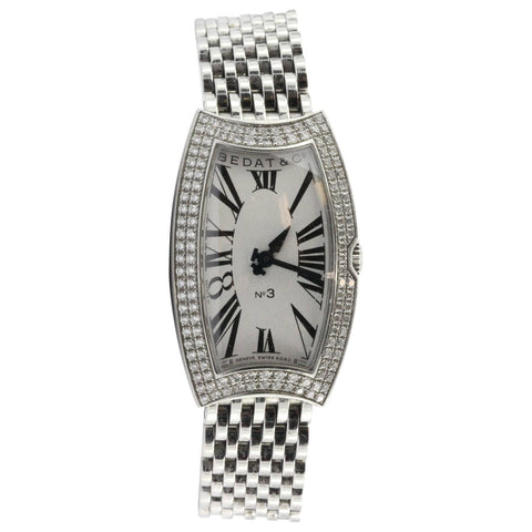 Bedat No 3 Diamond Bezel Stainless Steel Watch