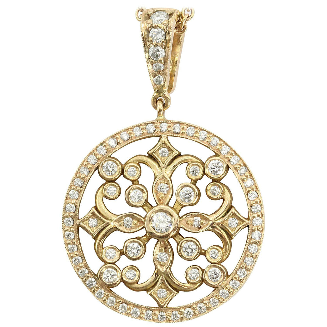 18K Rose Gold & Diamond Penny Preville Lace Pendant Necklace - Queen May