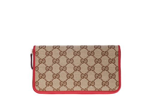 Gucci GG Canvas Zip Wallet - Queen May