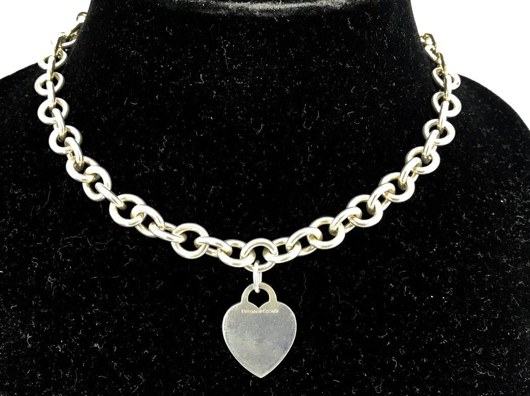 4c795adc2b5d Tiffany   Co Sterling Silver Heart Tag Necklace 16