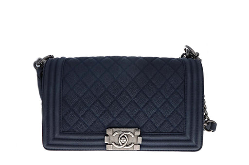 Chanel Medium Caviar Suede Boy Bag - Queen May