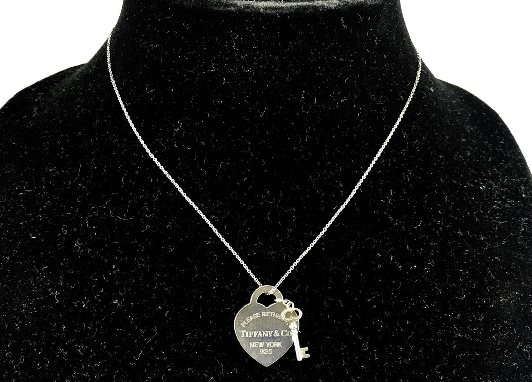 eb44da972 Please Return to Tiffany & Co New York Heart & Key Tag Necklace - Queen ...