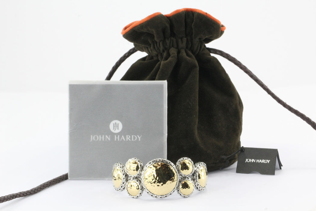 John Hardy Palu 22K Gold and Silver Round Cluster Cuff Size M - Queen May
