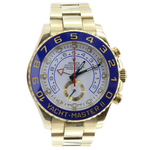 Rolex Yacht Master II 18K Gold Oyster Automatic Men's White Dial Watch 116688WAO