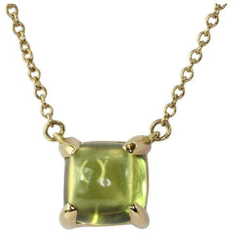Tiffany 18K Gold Paloma Picasso Sugar Stack Peridot Necklace