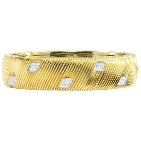 Roberto Coin Appassionata 18K Gold Diamond Bangle Bracelet