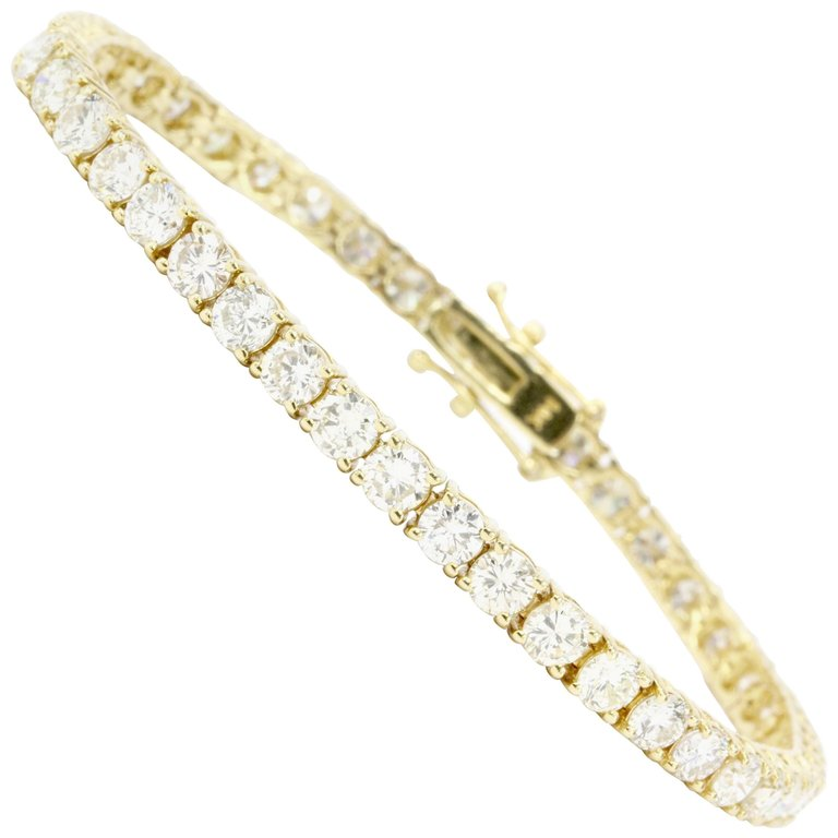 9 CTW 45 Diamond 14K Gold Tennis Bracelet
