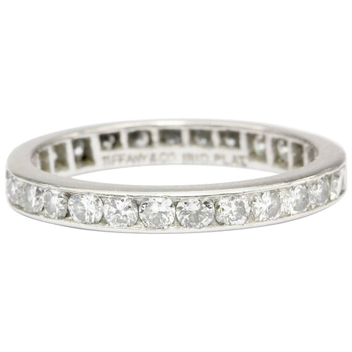 Tiffany & Co Platinum Diamond Eternity Band Size 6.5 Circa 1950s