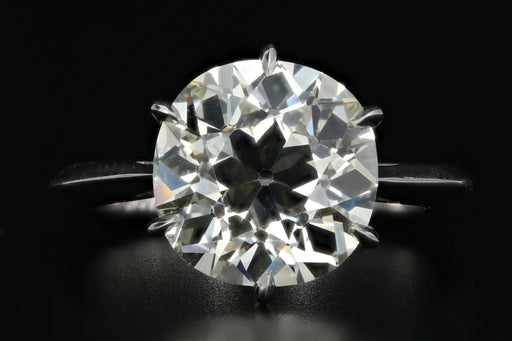 Platinum Old European Cut 4.91 Carat Diamond with Hand Made Mounting - Queen May