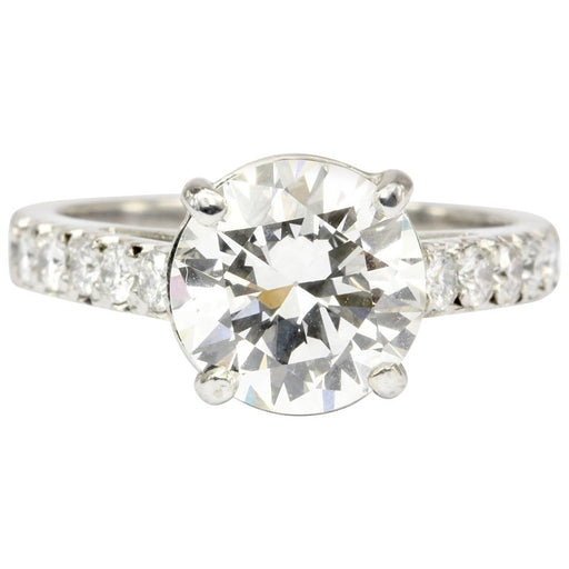fcecf98f4 18K White Gold GIA 2.59 CT Diamond Engagement Ring Size 5 - Queen May