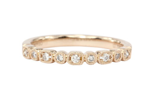 14K Rose Gold Diamond Half Eternity Band