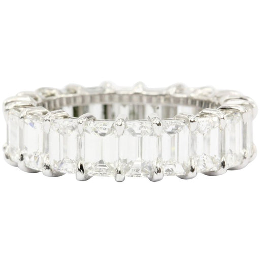 Platinum 5.5 CTW Emerald Cut Diamond Eternity Band