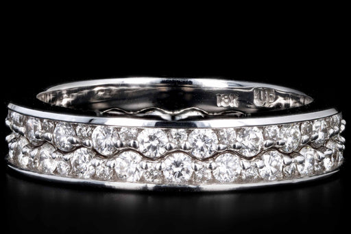 18K White Gold Interlocking Eternity Band Size 7 - Queen May