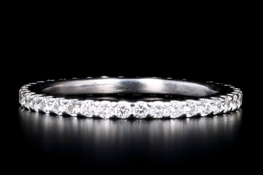 New Platinum .6 Carat Round Brilliant Cut Diamond Eternity Band - Queen May