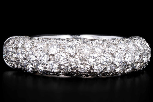 18K White Gold 1 CTW Pave Diamond Band Size 5 - Queen May
