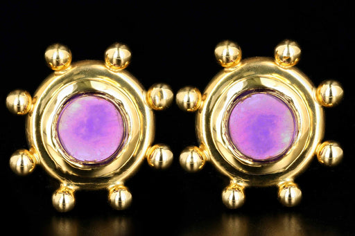 Tiffany & Co Paloma Picasso 18K Yellow Gold  Amethyst Clip Post Earrings - Queen May
