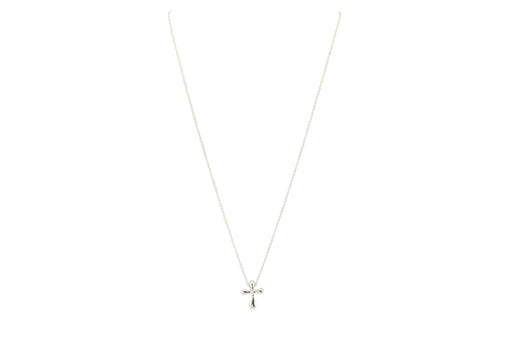 Tiffany & Co. Sterling Silver Cross Pendant Necklace - Queen May