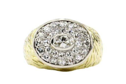 18K Yellow and White Gold .86 CTW Diamond Ring - Queen May