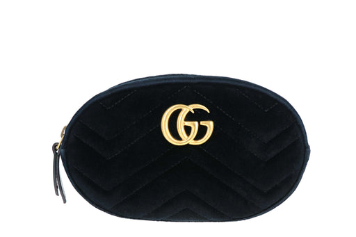 Gucci GG Marmont Velvet Matelassé Belt Bag - Queen May
