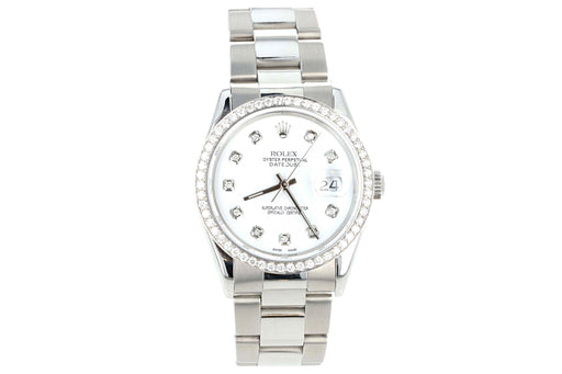 Rolex DateJust 16200 Diamond Dial and Bezel - Queen May
