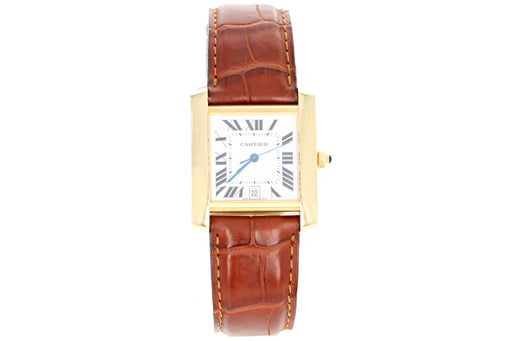 18k Gold Cartier Tank Francaise 1840 - Queen May
