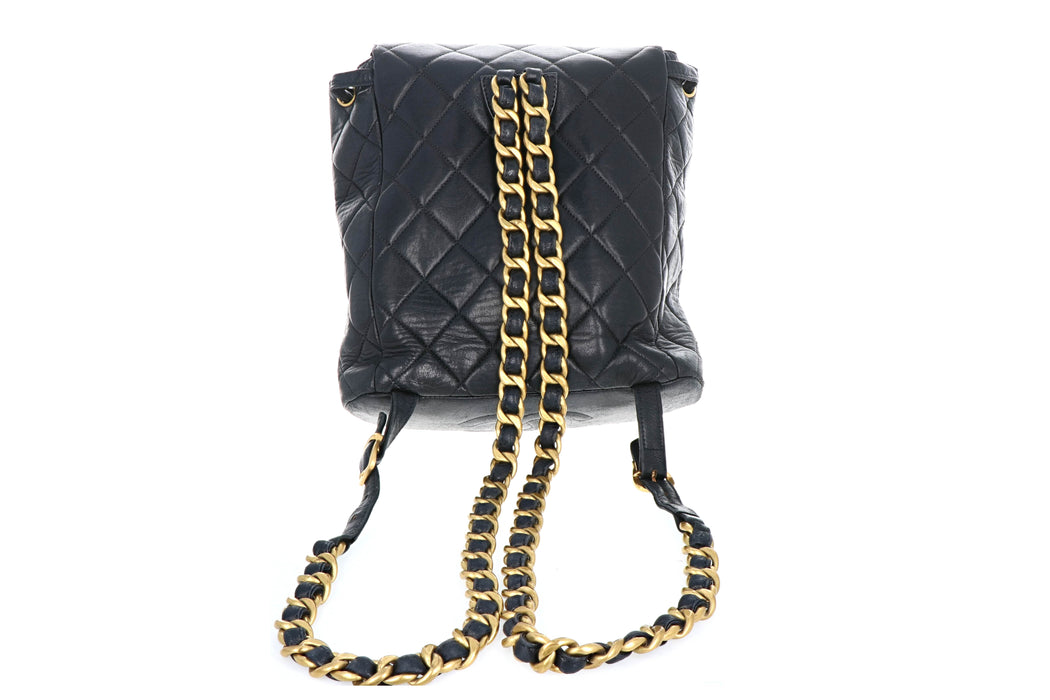Chanel Lambskin Vintage Quilted Double CC  Backpack - Queen May