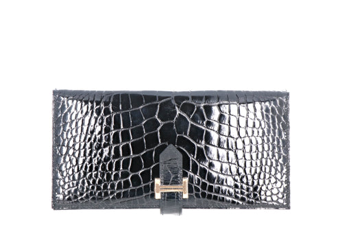 Hermes Alligator Bearn Wallet - Queen May