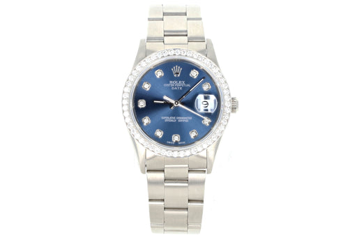 Rolex Date 15200 Diamond Dial and Bezel - Queen May