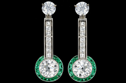 Art Deco Diamond and Emerald Enhancers - Queen May
