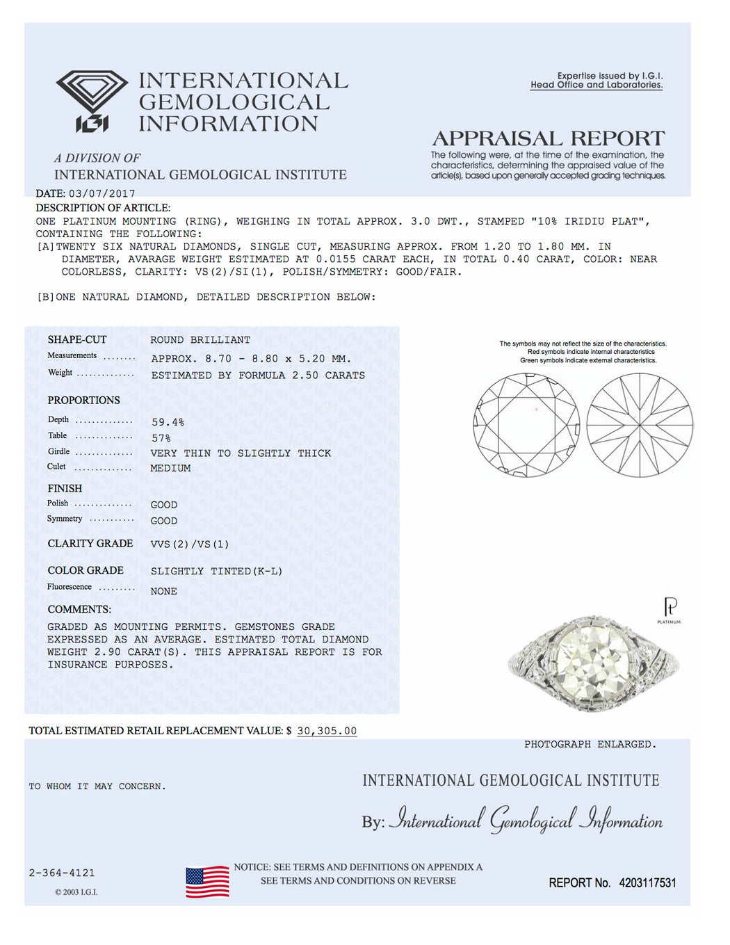 are size of igi a diamonds many characteristics diagram report representation small issued appear on any diamond graphic plotted gemological diamondcert for institute and proportions reports the international