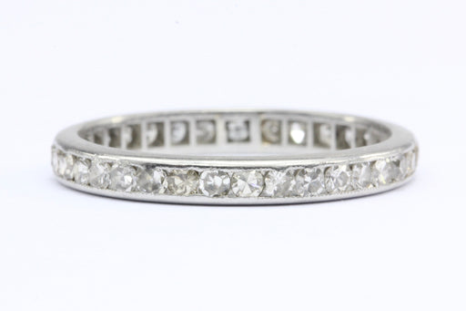 Art Deco Platinum Old European and Single Cut Diamond Eternity Band