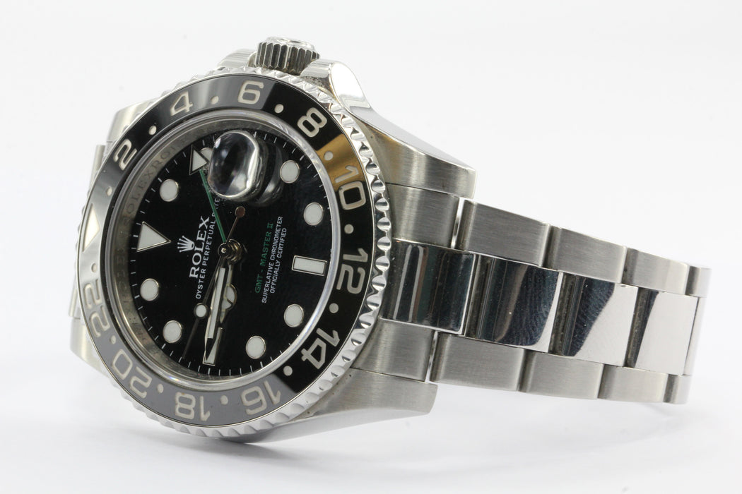 Rolex GMT Master II Black Dial Oyster Perpetual Date Mens Watch - Queen May