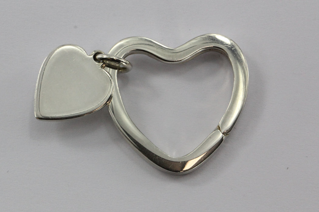 Tiffany & Co Sterling Silver 925 Heart Tag Key Ring - Queen May