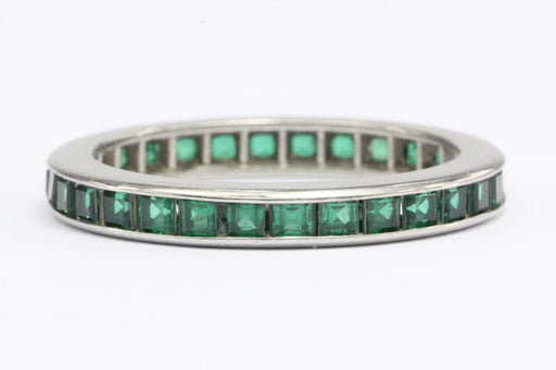 Platinum Green Tsavorite Eternity Band c.1910