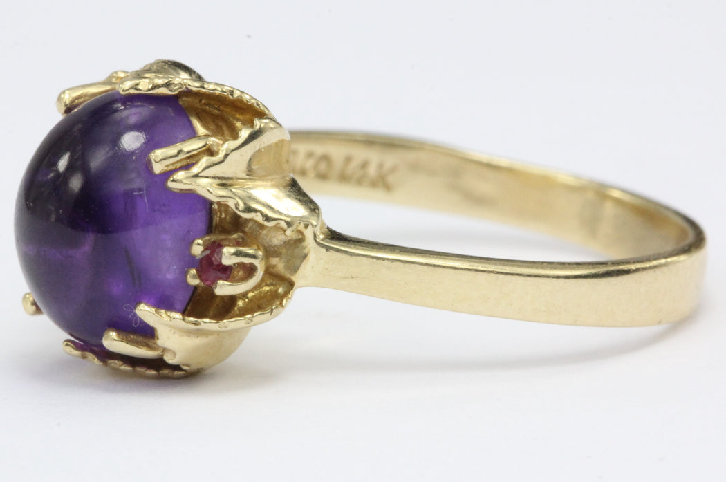 Vintage 14K Gold 3.25 Carat Amethyst Ring - Queen May