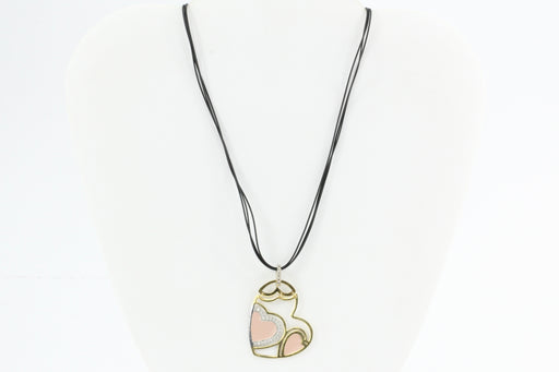 Roberto Coin 18K Gold Diamond & Pink Enamel Hinged Heart Necklace