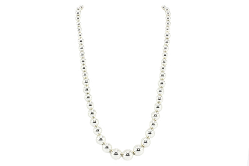 Tiffany & Co Sterling Silver Hardware Graduated Ball Necklace - Queen May